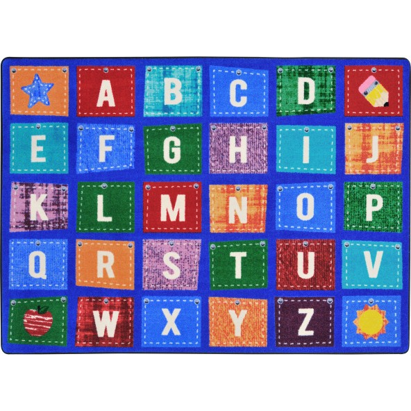 rugs alphabet upcycle