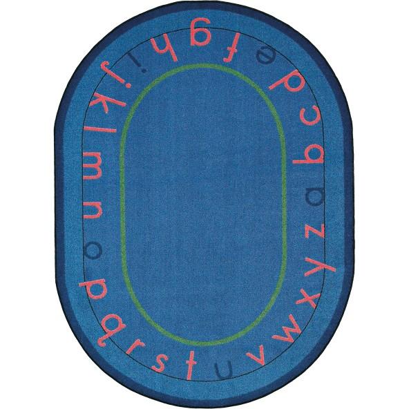 Rugs montessori alphabet joy carpets for Green label carpet