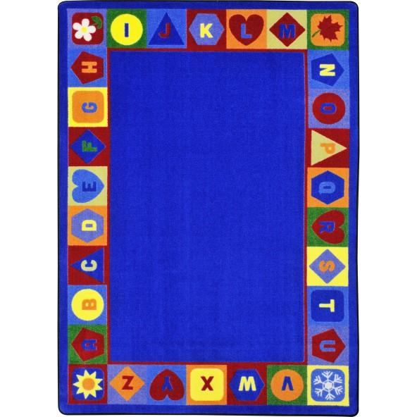 Rugs seasons shapes alphabet joy carpets for Green label carpet