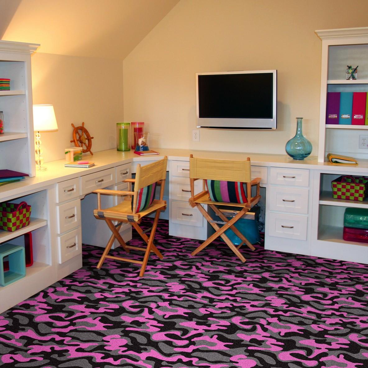 Funky carpet home design for Funky home designs
