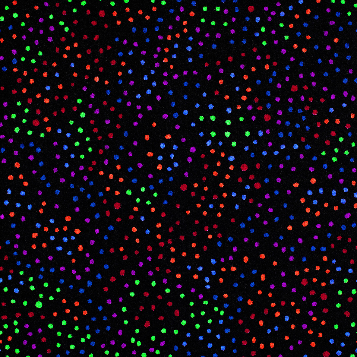 Dots Aglow Fluorescent Tile