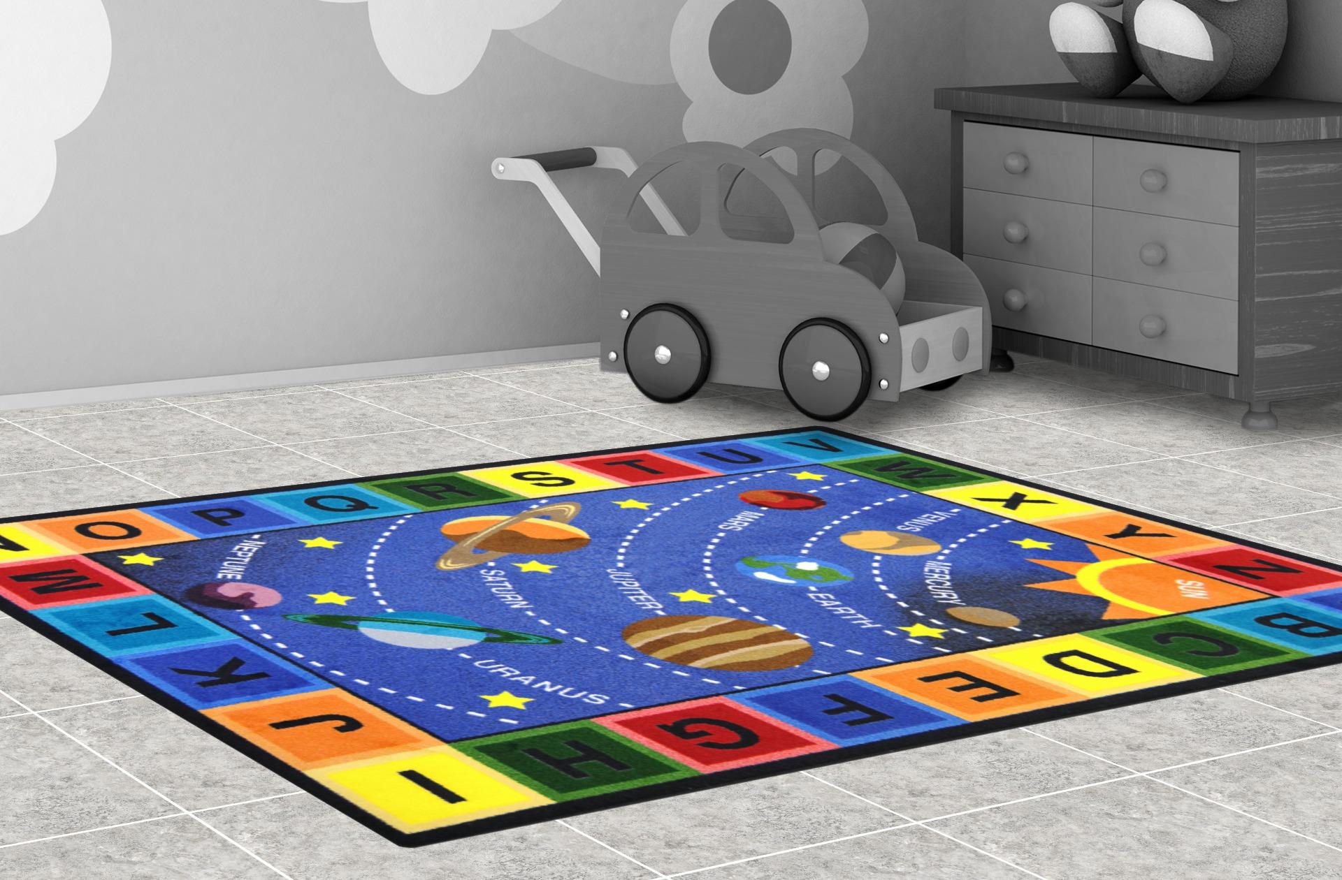 Alphabet floor tiles