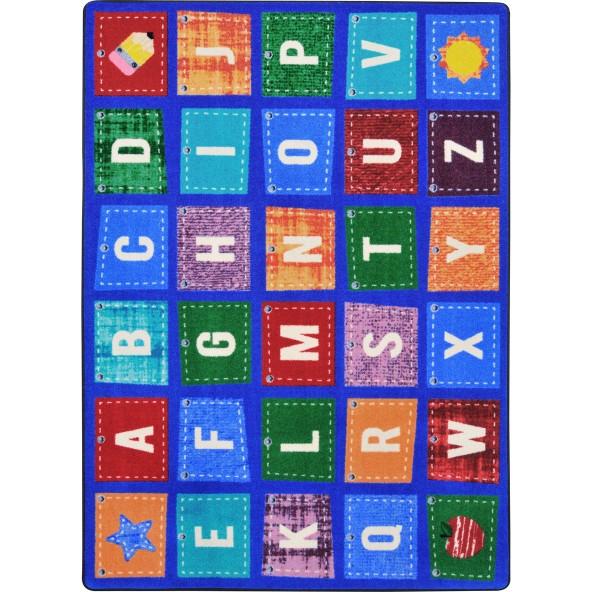 Alphabet Upcycle Rug